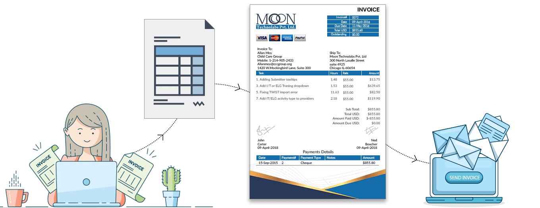 Moon Invoice - Invoice PDF