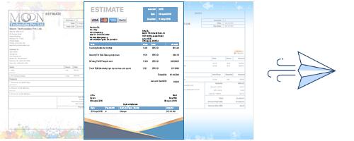 Moon Invoice - Estimate Image