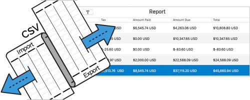 Moon Invoice - Import - Export Report