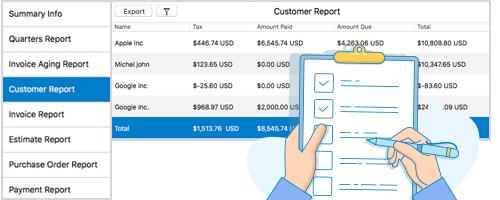 Moon Invoice - Customer Report