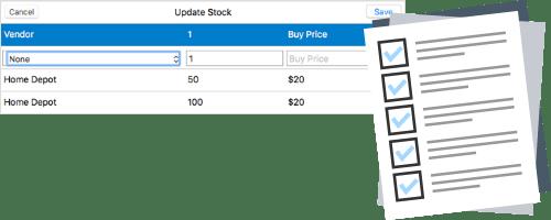 Moon Invoice - Update stock